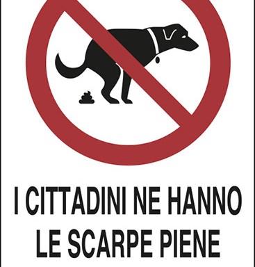 I CITTADINI NE HANNO LE SCARPE PIENE Pulisci dove il tuo cane sporca I TRASGRESSORI SARANNO PUNITI A NORMA DI LEGGE