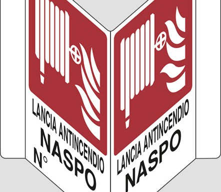 """LANCIA ANTINCENDIO NASPO N° """"V"""""""