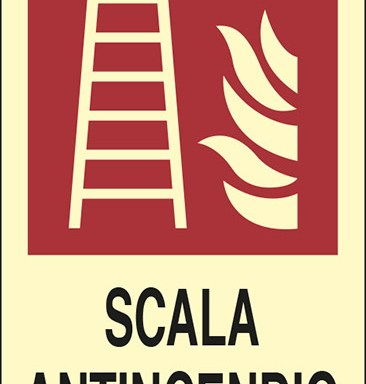 SCALA ANTINCENDIO  luminescente