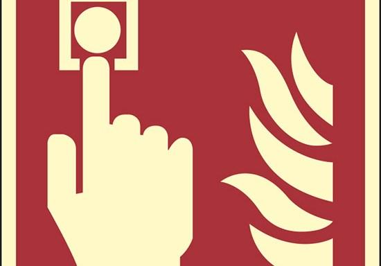 (allarme antincendio – fire alarm call point) luminescente