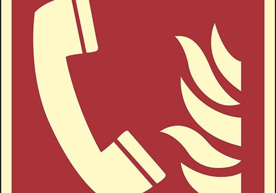 (telefono di emergenza antincendio – fire emergency telephone) luminescente
