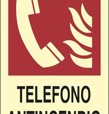 TELEFONO ANTINCENDIO  luminescente