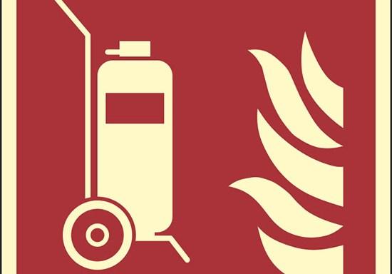 (estintore carrellato – wheeled fire extinguisher) luminescente