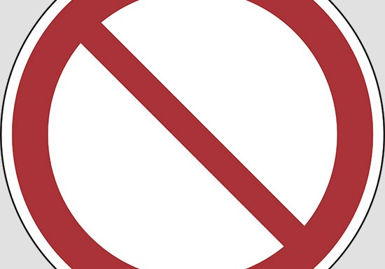 (general prohibition sign)
