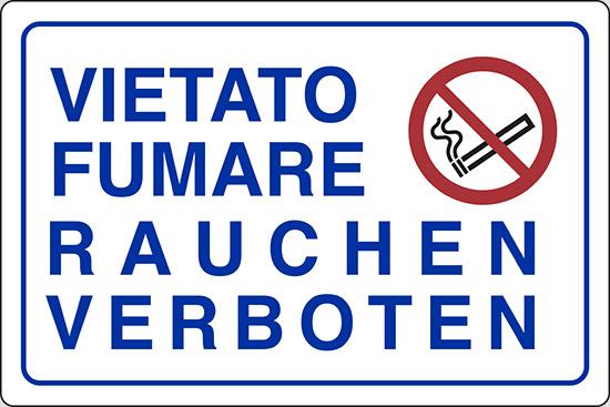 VIETATO FUMARE RAUCHEN VERBOTEN