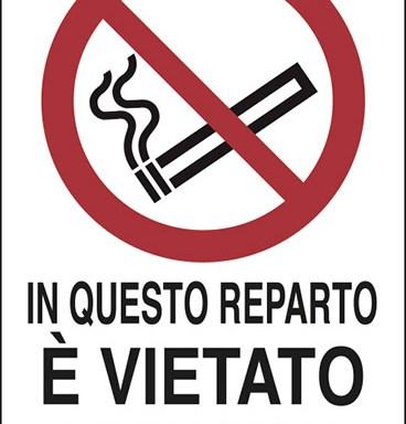 IN QUESTO REPARTO E' VIETATO FUMARE