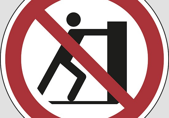 (no pushing)