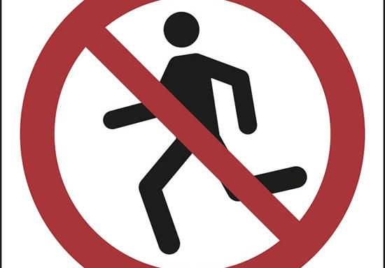 (non correre – no running)
