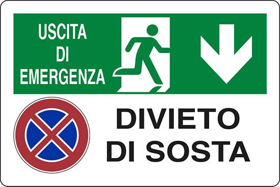 USCITA DI EMERGENZA DIVIETO DI SOSTA