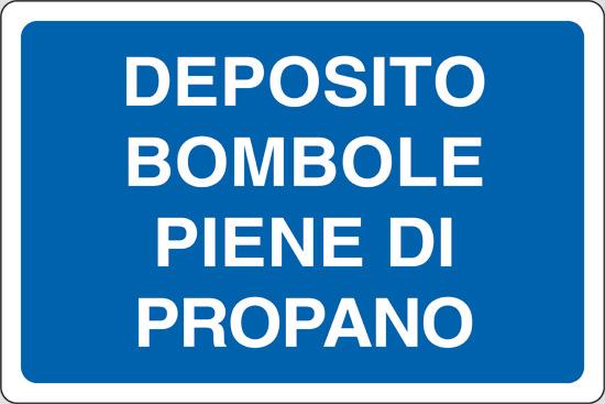 DEPOSITO BOMBOLE PIENE DI PROPANO