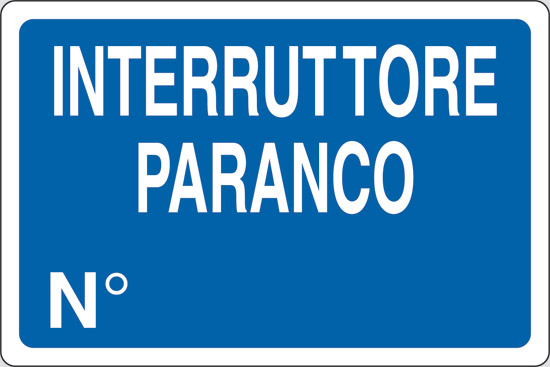INTERRUTTORE PARANCO N