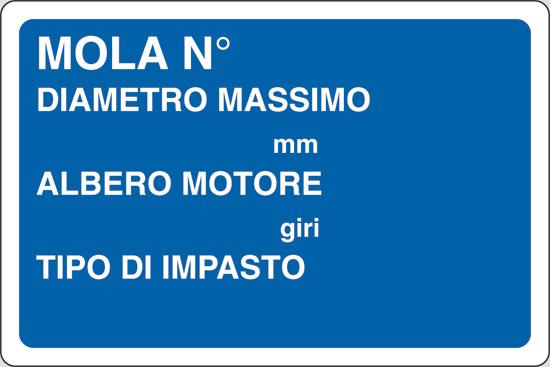 MOLA N  DIAMETRO MASSIMO mm ALBERO MOTORE giri TIPO DI IMPASTO