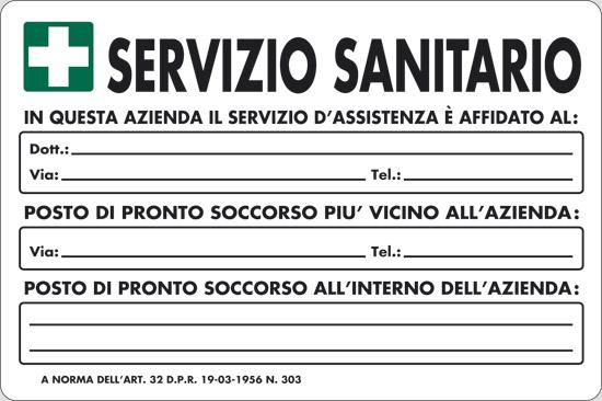 SERVIZIO SANITARIO IN QUESTA AZIENDA IL SERVIZIO D' ASSISTENZA E' AFFIDATO AL: ____ Art. 32