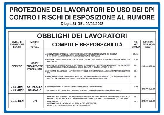 PROTEZIONE DEI LAVORATORI ED USO DEI DPI CONTRO RISCHI DI ESPOSIZIONE AL RUMORE D.Lgs. 81