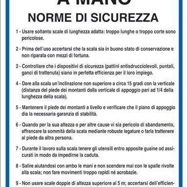 SCALE PORTATILI A MANO NORME DI SICUREZZA