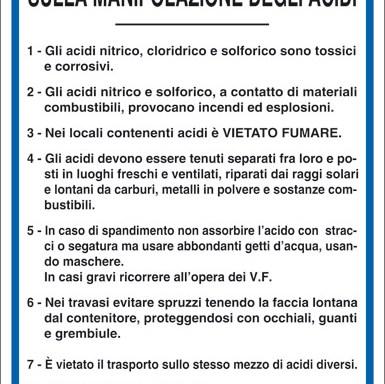 NORME DI SICUREZZA SULLA MANIPOLAZIONE DEGLI ACIDI