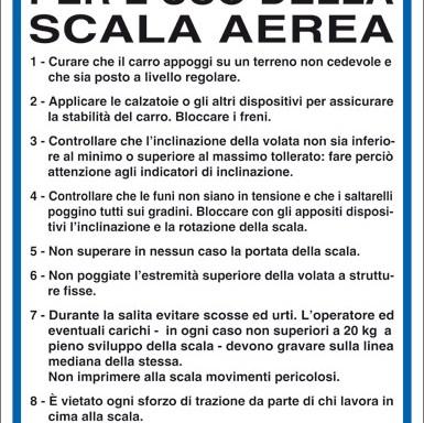 NORME DI SICUREZZA PER L'USO DELLA SCALA AEREA