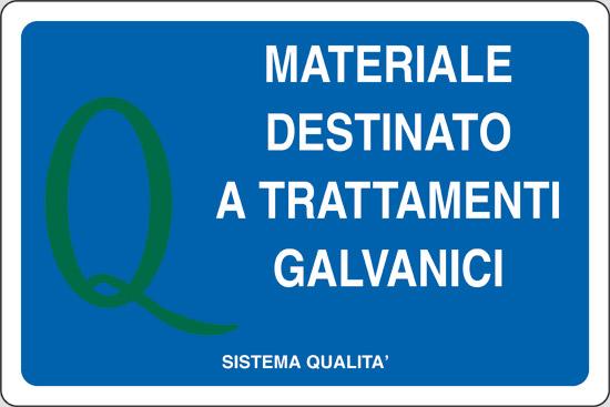MATERIALE DESTINATO A TRATTAMENTI GALVANICI