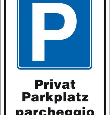 P Privat Parkplatz parcheggio privato