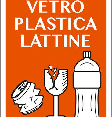 raccolta differenziata VETRO PLASTICA LATTINE