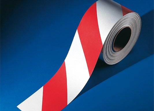 Rotolo rifrangente mt (fasce bianco rosse) lunghezza del rotolo 45,7 m