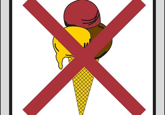 (vietato entrare con il gelato)