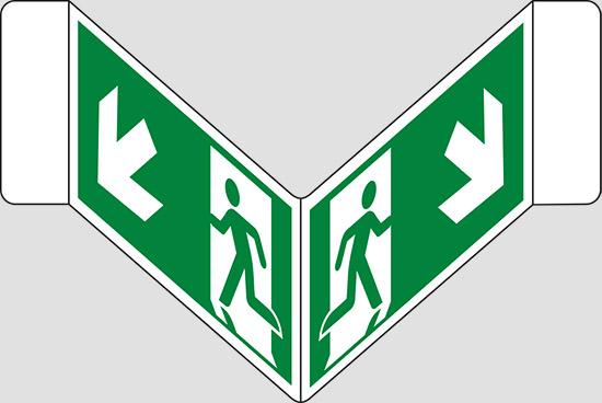 """(uscita di emergenza scala) a """"V"""""""