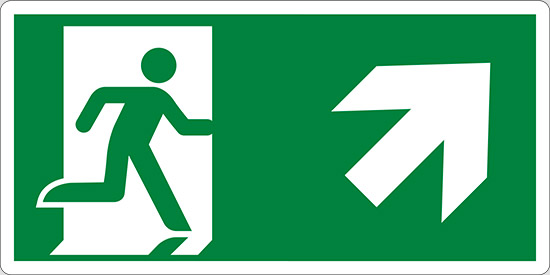 (uscita di emergenza a sinistra – emergency exit left hand)