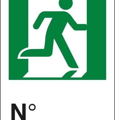 (uscita di emergenza a destra con omino) N