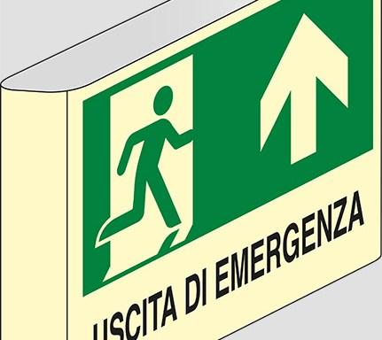 USCITA DI EMERGENZA a bandiera luminescente
