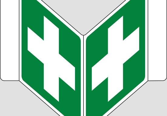 """(pronto soccorso – first aid) a """"V"""""""