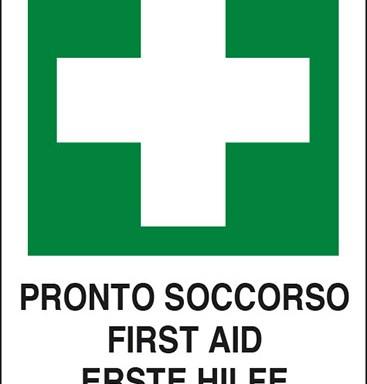 PRONTO SOCCORSO FIRST ID ERSTE HILFE POSTE DE SECOURS