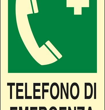TELEFONO DI EMERGENZA luminescente