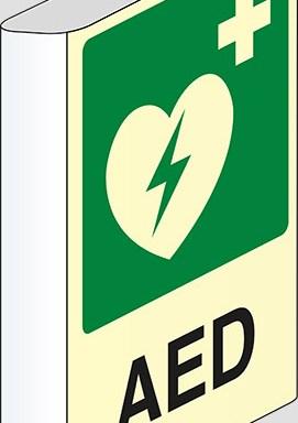 AED a bandiera luminescente