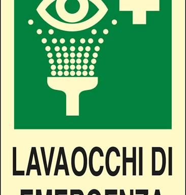 LAVAOCCHI DI EMERGENZA  luminescente