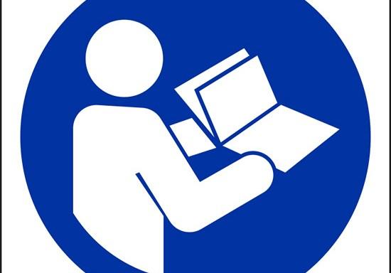 (e' obbligatorio leggere le istruzioni – refer to instruction manual/booklet)