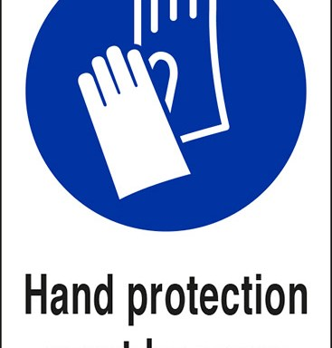 Hand protection must be worn