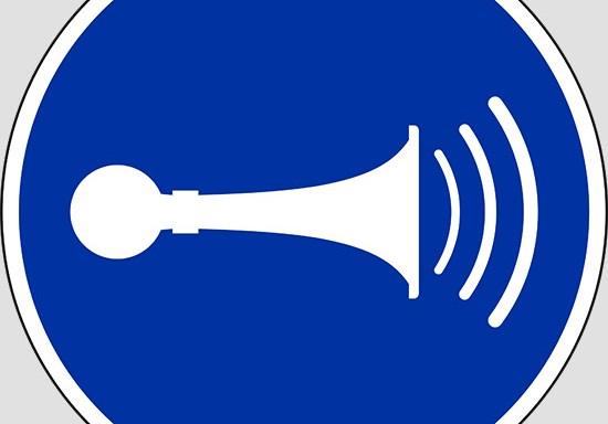 (sound horn)