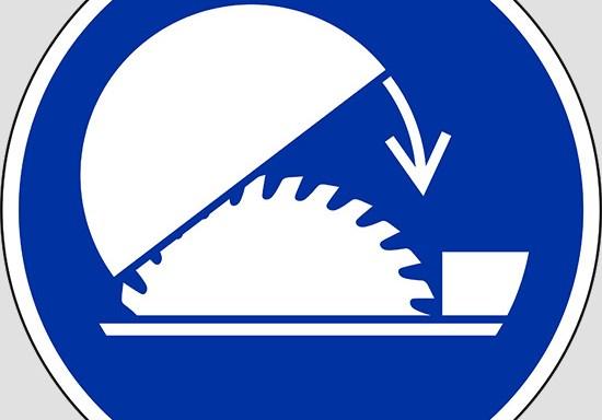 (use table saw adjustable guard)