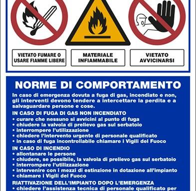 ATTENZIONE IMPIANTO DI G.P.L NORME DI COMPORTAMENTO