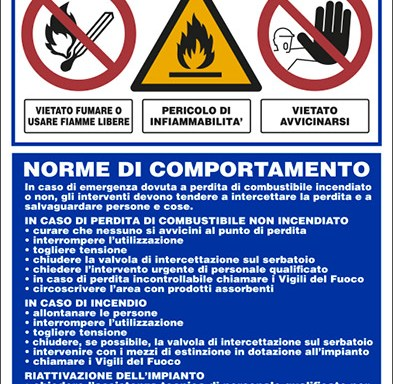 DEPOSITO GASOLIO NORME DI COMPORTAMENTO