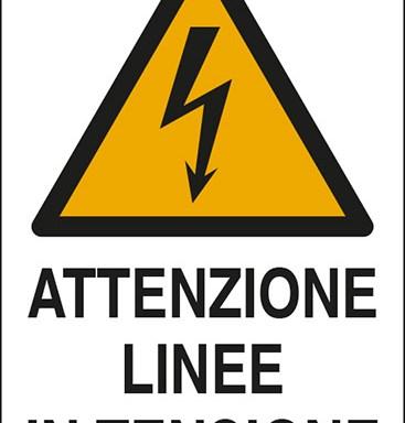 ATTENZIONE LINEE IN TENSIONE