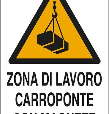 ZONA DI LAVORO CARROPONTE CON MAGNETE
