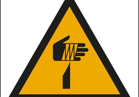 (pericolo oggetto affilato – warning: sharp element)