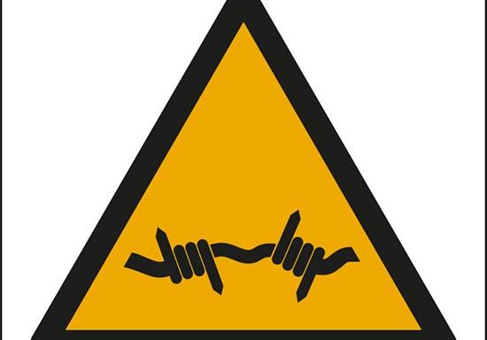 (avvertimento: filo spinato – warning; barbed wire)