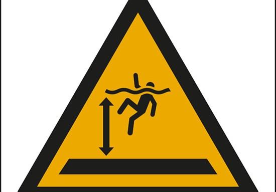 (attenzione; acque profonde – warning; deep water)