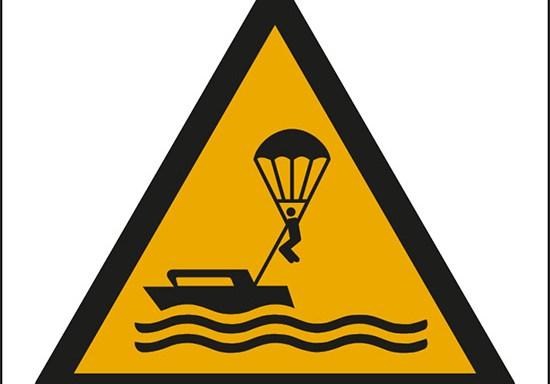 (attenzione; parasailing – warning; parasailing)