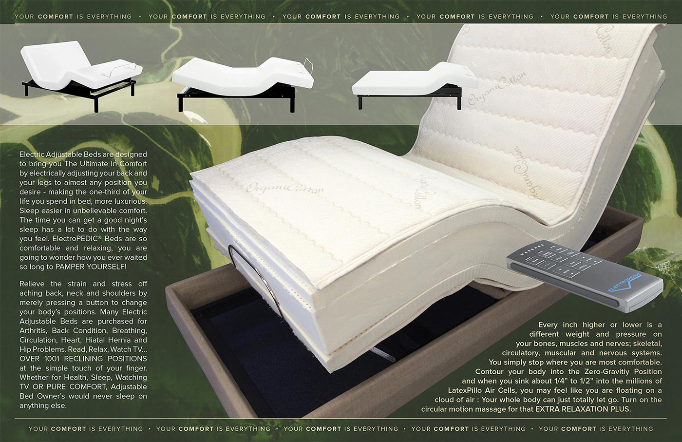 Adjustable Bed Latex Mattress Natural Organic TALALAY Foam