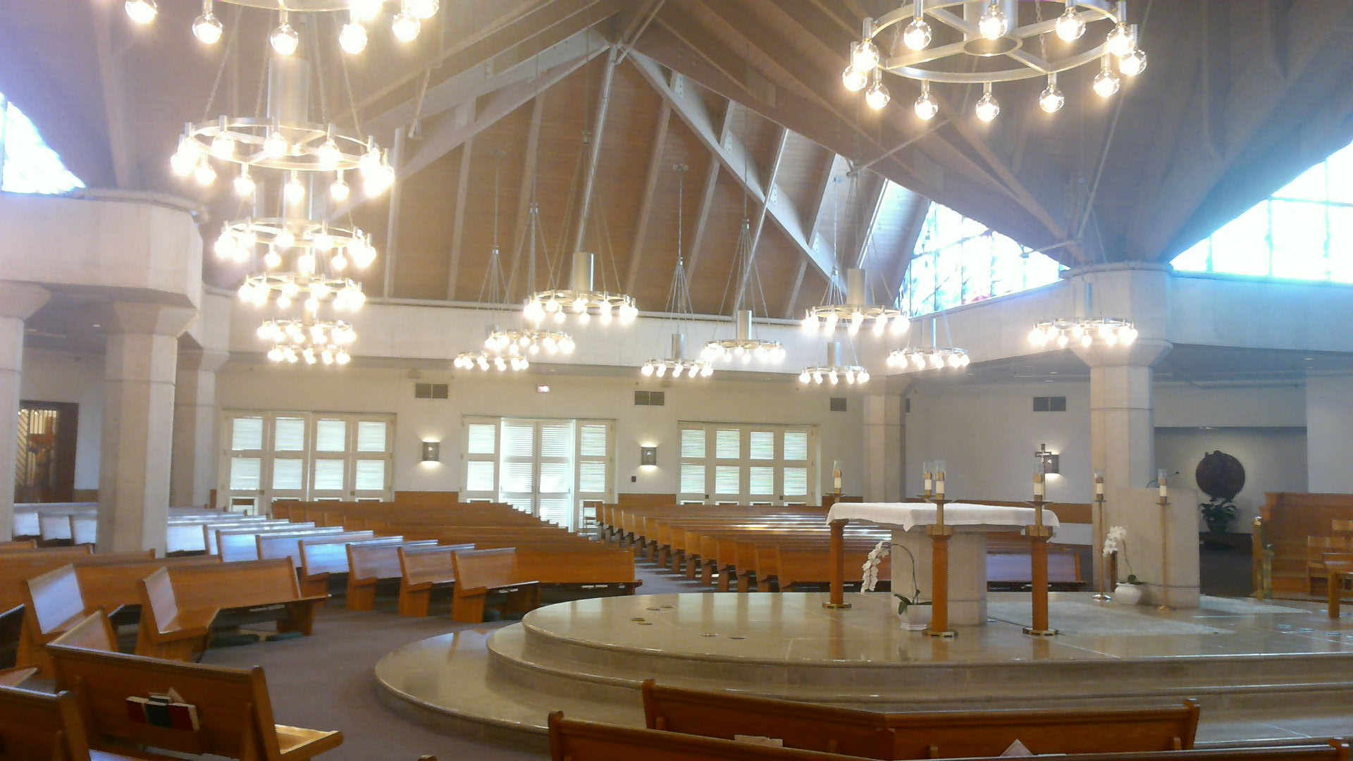 New Chandeliers at St Ritas Catholic Church  AAMSCO