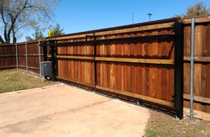 After - Automatic Wood and Iron Gate